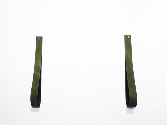 leren plankdragers groen