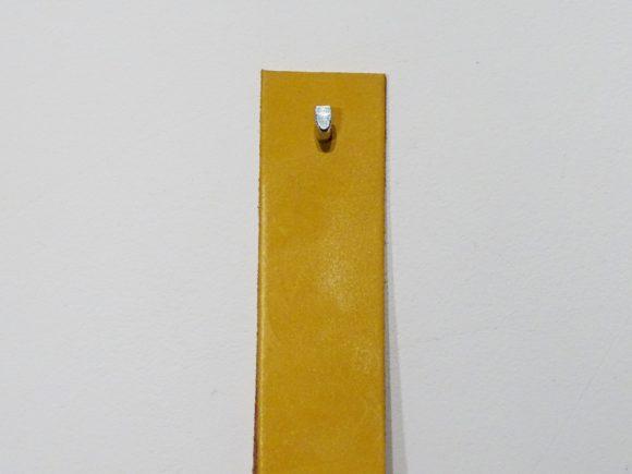 leren banden plank okergeel