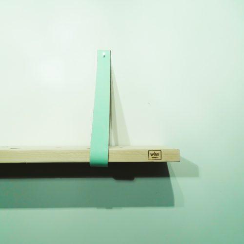 leren banden voor wandplank mint