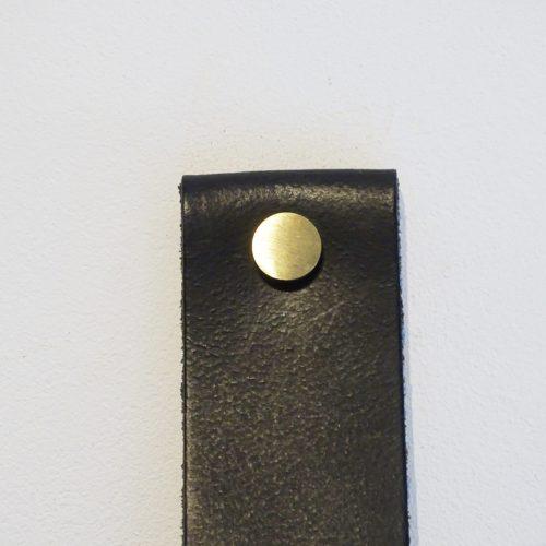 handdoekring zwart goud mat