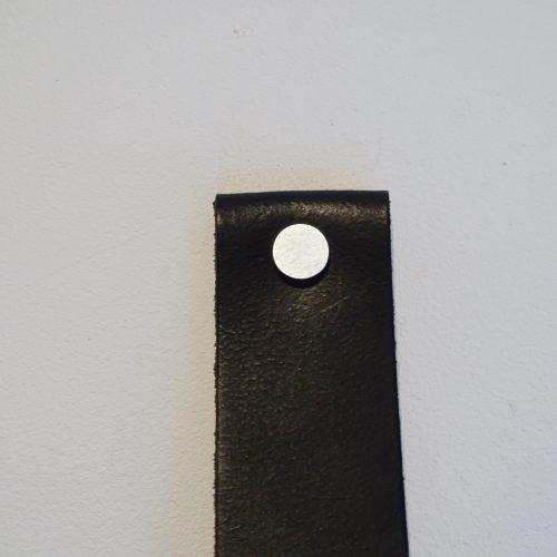 handdoekring zwart zilver mat