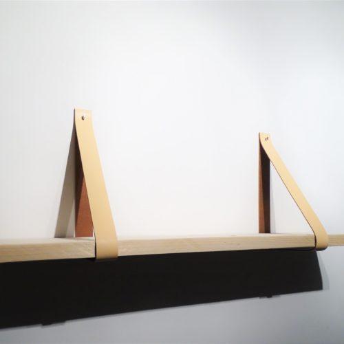 Plank leren plankdragers perzik