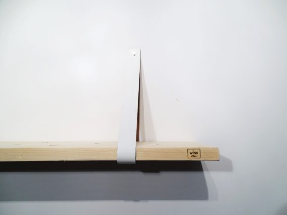 wandplank leren plankdragers wit