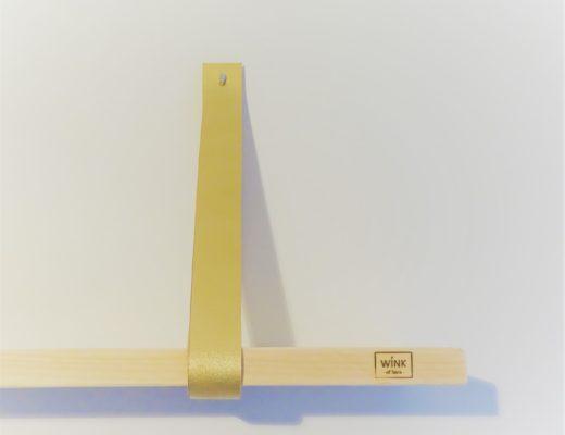 leren plankdragers goud