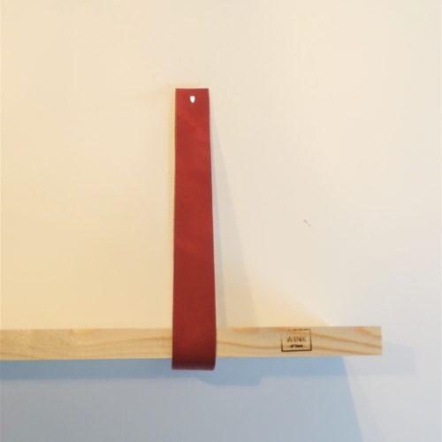 Leren plankdragers wandplank marsala