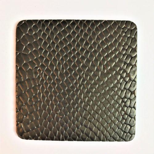 Onderzetters vancrocoleer zwart gloed brons